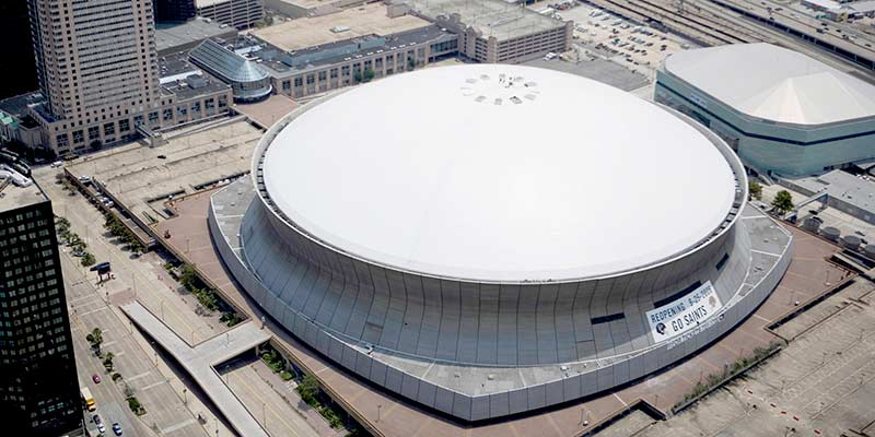 New Orleans Superdome Foam Roof