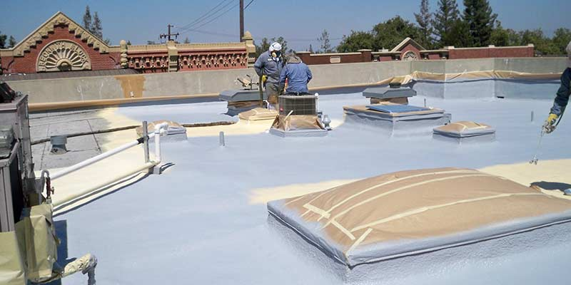 A Dura Foam SPF Roof System