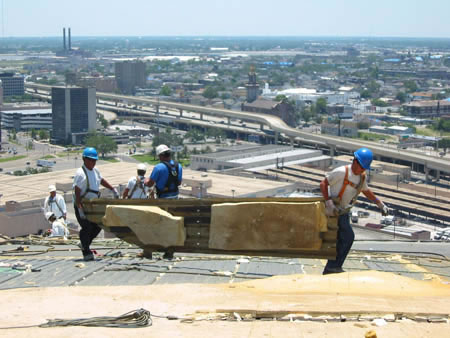 Foam Roof Superdome In Progress