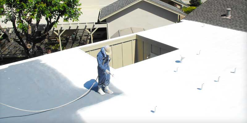 Coating Protects the SPF Roofing System from UV Exposure