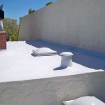 dura foam on roof with stucco walls