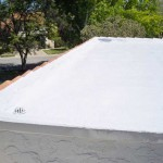 Corner of Dura-Foam foam roof