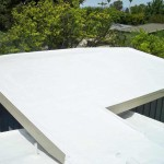 Spray polyurethane on residential home roof