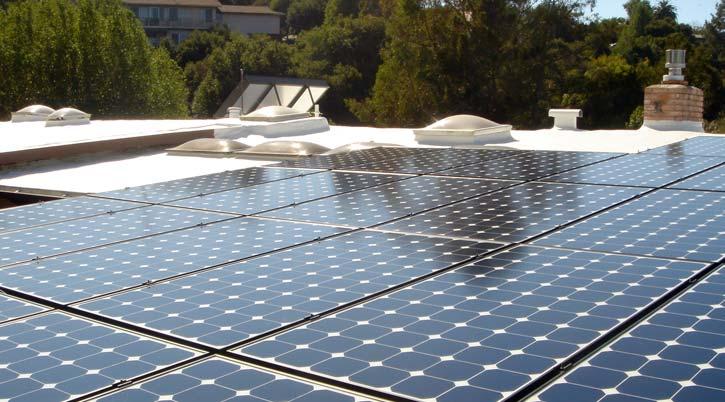 Dura-Foam solar panels on flat roof