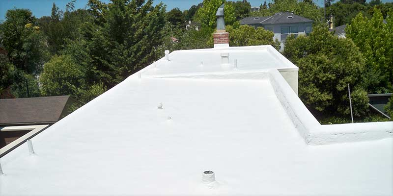commercial spf waterproof foam roofing