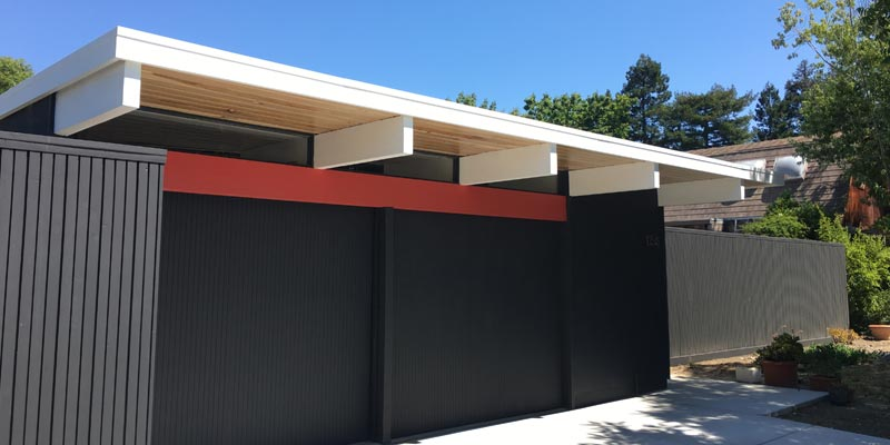 Flat foam roofing on eichler roof