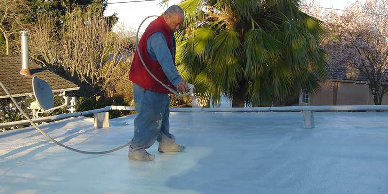 Re-coat your foam roof