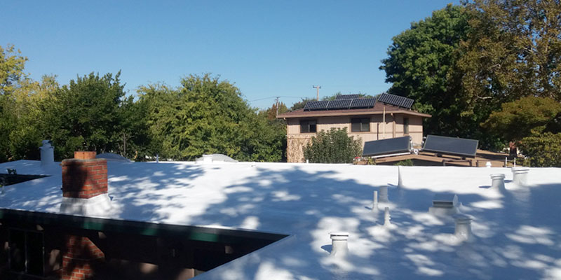 long term foam roofing