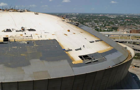 Foam Roofing New Orleans Superdome