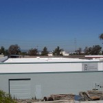 Business building with foam roof