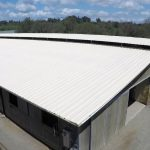 Horse stable roof with dura-foam spray foam