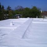 HVAC installed under foam roof