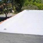 Corner of Dura-Foam foam roof