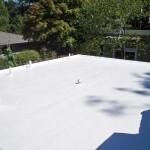 Flat white Dura-Foam roof. Sprayed foam.