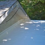 sprayed roof in shade