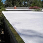 Newly applied Polyurethane foam on corner of roof