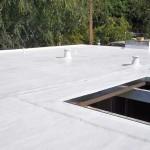 Foam roofing on Eichler house