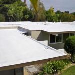 Spray foam roofing on Eichler house