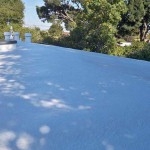 Foam sprayed roof