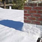 Foam roof near chimney