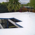 Foam roof on eichler house