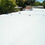 Installed Dura-Foam roof foam