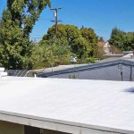 Eichler with white Dura-Foam roof installed