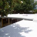 Spray foam roof on suburb house
