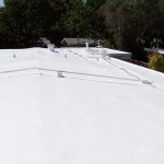 Eichler roof with spray foam