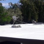 Dura-Foam foam roof with skylights