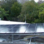 solar panels over roofing