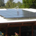 Solar panels over carport