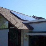 Solar panels on roof installed by Dura-Foam roofing
