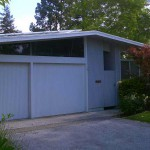 Eichler with solar over garage