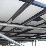 Solar panel detail underneath