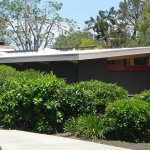 Eichler with solar panels installed on roof