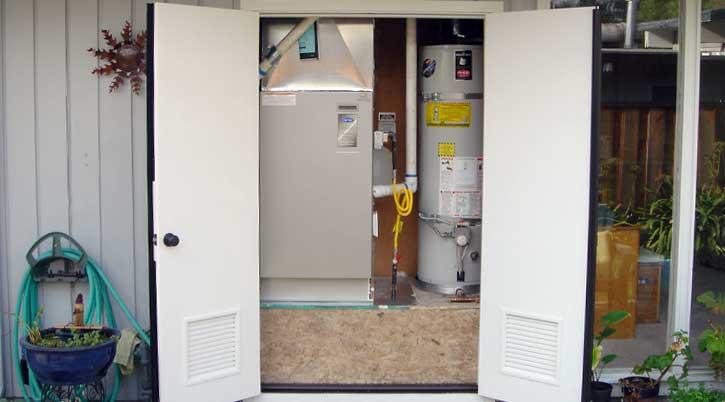 HVAC main location installation