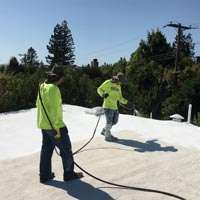 Spray foam maintenance on roof