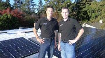 Solar Power technicians with Dura-Foam solar panels
